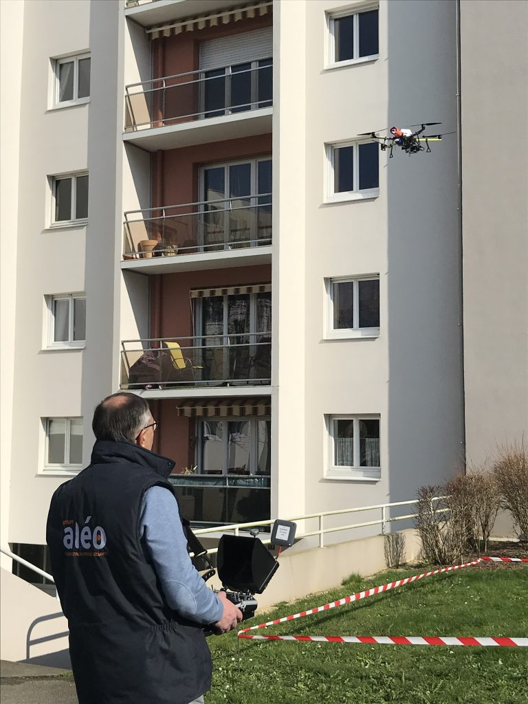 Aleo Intervention sur drone